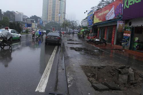 HN: Chặt hàng loạt cây xanh trên đường Nguyễn Chí Thanh - 12