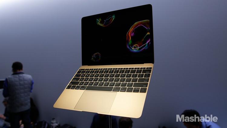 Chiếc máy tính xách tay Macbook 12 inch mới được Apple ra mắt tại sự kiện Spring Forward vào hôm qua.