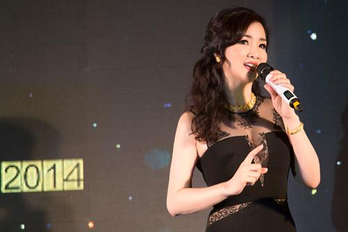 Hoa hậu Giáng My diện váy nửa kín, nửa hở dự sự kiện - 4