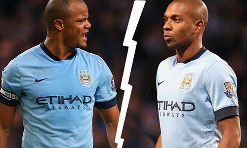 """Kompany - Fernandinho """"khẩu chiến"""", Man City thêm rối - 1"""