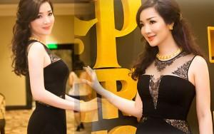 Hoa hậu Giáng My diện váy nửa kín, nửa hở dự sự kiện