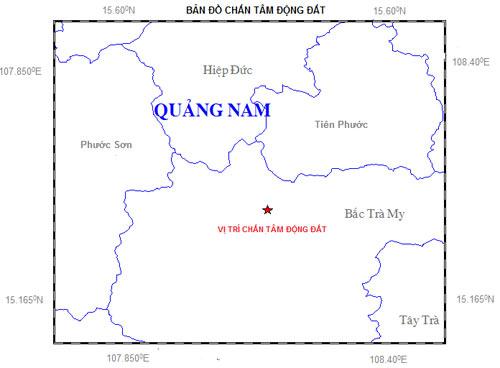Quảng Nam: Động đất 2.9 độ richter ở huyện Bắc Trà My - 1