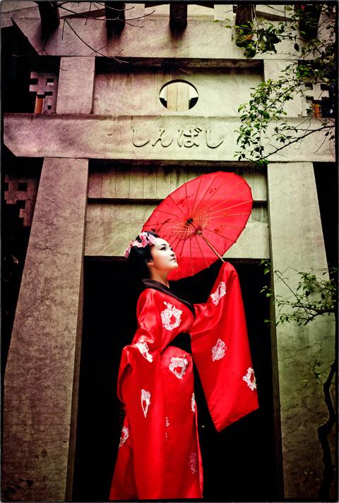 Hot girl HV Ngoại giao hóa thân thành nàng geisha Nhật - 5