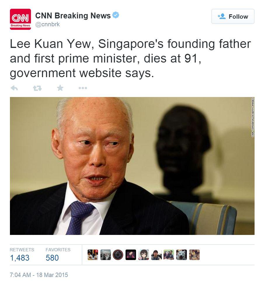 Singapore bác tin đồn ông Lý Quang Diệu từ trần - 2