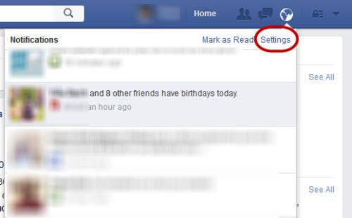 """Hủy nhận thông báo """"hôm nay sinh nhật của..."""" trên Facebook - 1"""