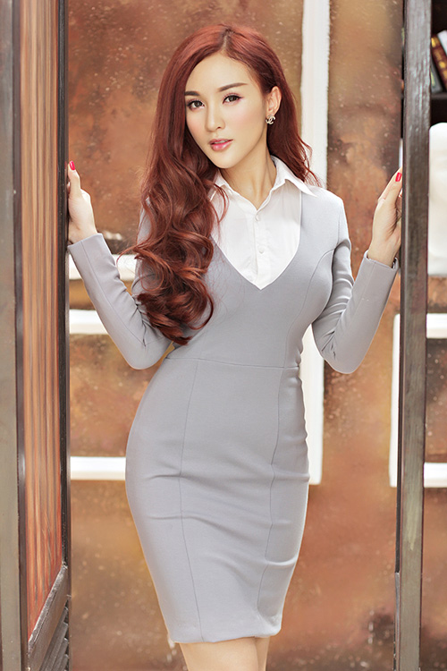 Hot girl Kelly mặc váy in hoa hồng giống của Docle - 15