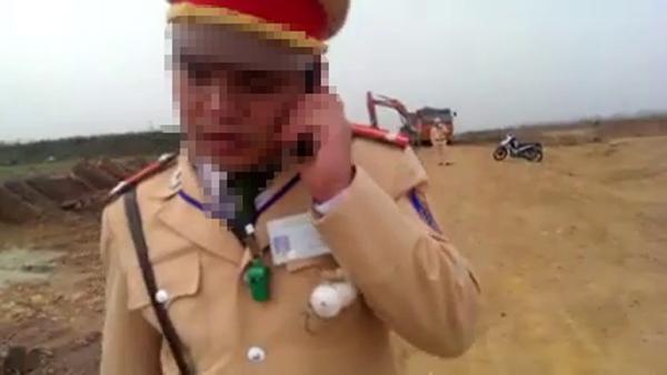 """CA Phú Thọ nói về clip """"CSGT vào công trường"""" - 1"""