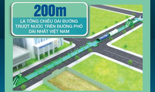 Zoom cận cảnh đường trượt nước trên đường phố dài nhất Việt Nam - 4