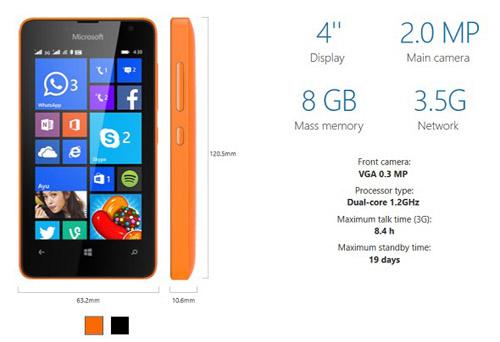 Ra mắt Lumia 430 hai SIM giá chỉ 1,5 triệu đồng - 2