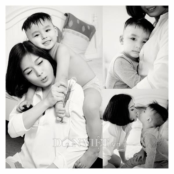"""Bộ ảnh """"Mom & Son"""" ngọt ngào của hot girl trường báo - 10"""