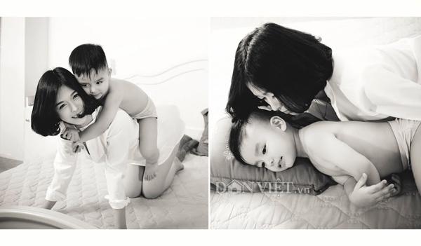 """Bộ ảnh """"Mom & Son"""" ngọt ngào của hot girl trường báo - 7"""