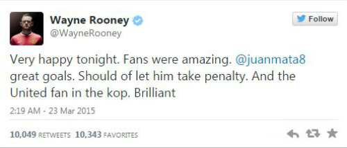 Rooney hối hận không nhường quả 11m cho Mata - 3