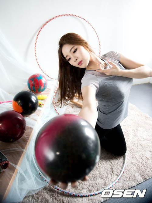 """Đường cong tuyệt hảo của """"nữ thần"""" bowling Hàn Quốc - 5"""