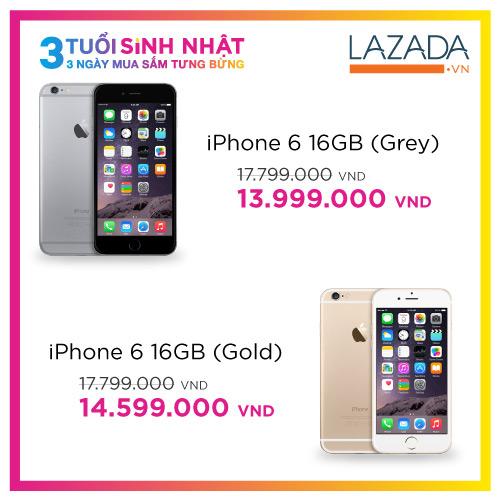 Apple iPhone 6 giá chỉ từ 13,999,000 đồng tại Lazada - 1