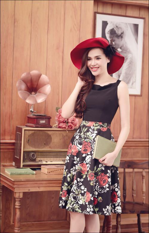Hoa hậu Diệu Hân cuốn hút với váy hè - 12