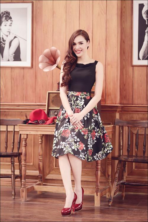 Hoa hậu Diệu Hân cuốn hút với váy hè - 13