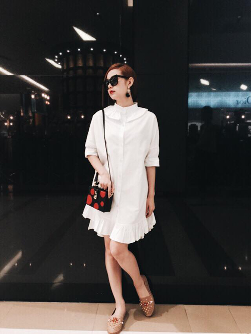 Minh Hằng mặc sành điệu dạo phố Thái Lan - 10