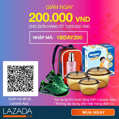 Thả ga mua sắm với khuyến mãi mừng sinh nhật cùng Lazada.vn - 3