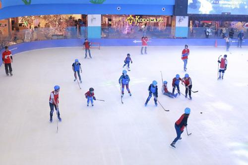 Giới trẻ hào hứng thử sức với trượt băng và hockey - 5