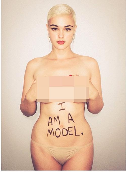 Tung ảnh bán khỏa thân vì bị xếp vào hàng mẫu béo - 1