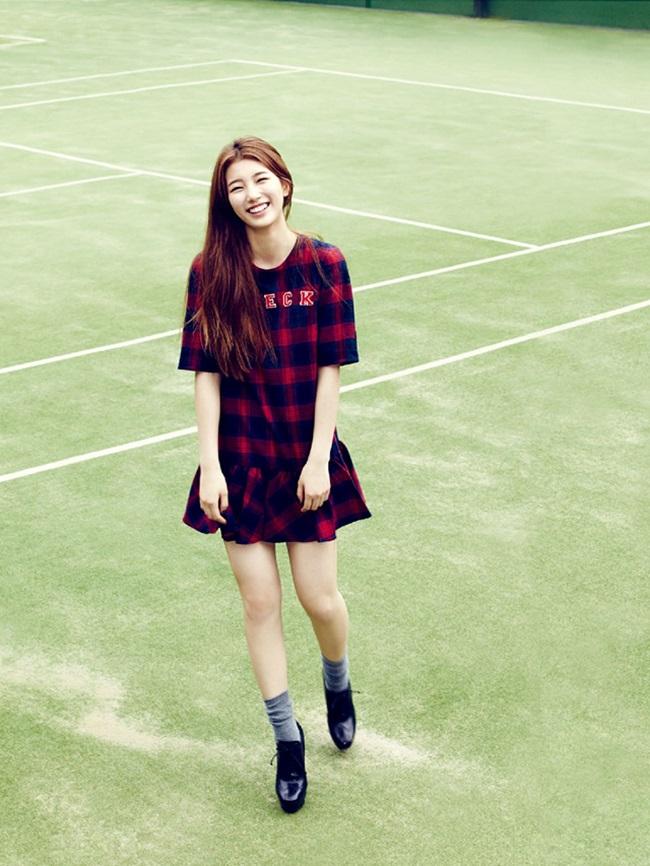 Suzy  ' đốn tim '  fan hâm mộ bởi vẻ đẹp ngọt ngào và nụ cười tỏa nắng.