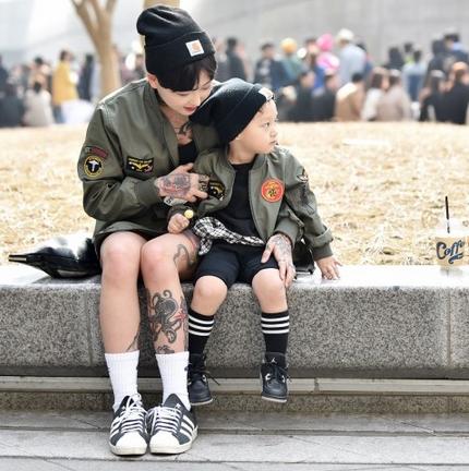 Choáng vì độ sành điệu của nhóc tì tại Seoul FW - 1