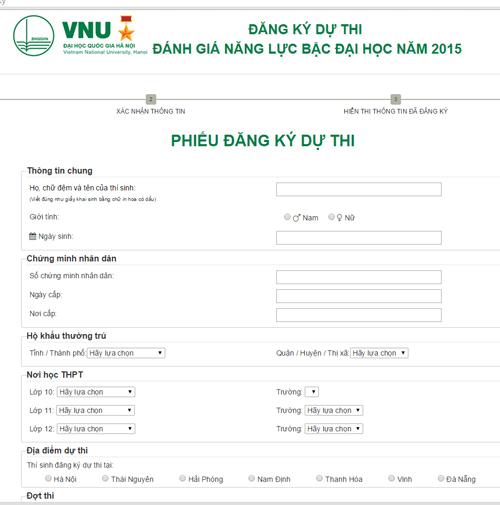ĐHQG Hà Nội chính thức mở cổng đăng ký thi trực tuyến - 1