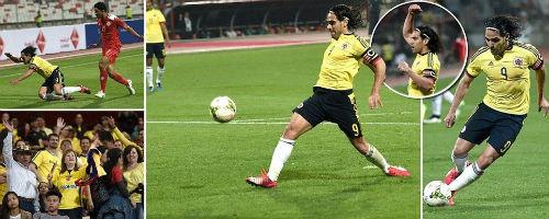 Tịt ngòi ở MU, Falcao rực sáng trên tuyển Colombia - 1