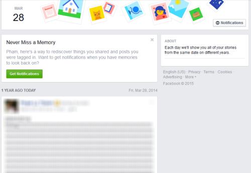"""Dùng ngay tính năng """"ngày này năm trước"""" trên Facebook - 1"""