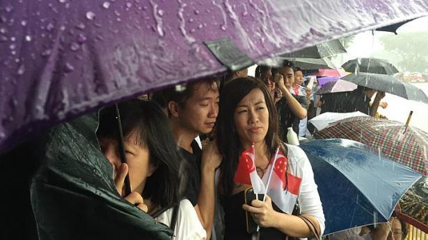 Singapore mưa trắng trời ngày đưa tiễn cố Thủ tướng Lý Quang Diệu - 3