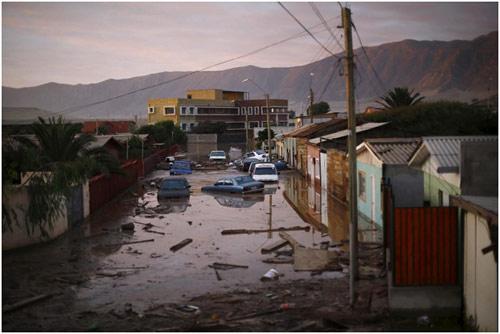 Chùm ảnh: Miền Bắc Chile hứng chịu lũ lụt lịch sử - 3