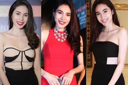 """Thời trang """"10 năm không đổi"""" của 3 người đẹp Việt - 4"""