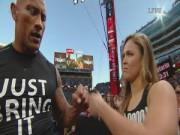 The Rock và Nữ hoàng UFC gây sốt khi cùng thượng đài