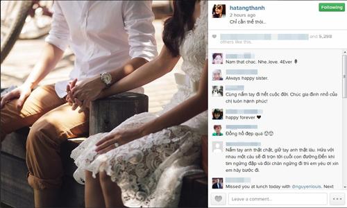 Sắp lâm bồn, Tăng Thanh Hà bất ngờ đăng lại ảnh cưới - 1