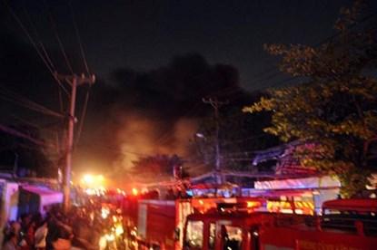 TP.HCM: Cháy dữ dội tại công ty nệm mút - 1