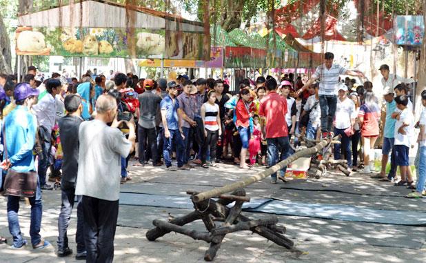 TPHCM: Người đến chơi quá đông, công viên cũng… tắc - 6
