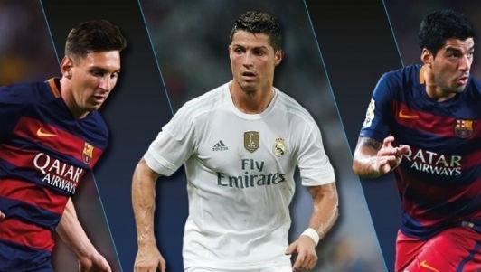 """""""Vua săn bàn"""" La Liga năm 2015: CR7 lấn át M-S-N - 1"""