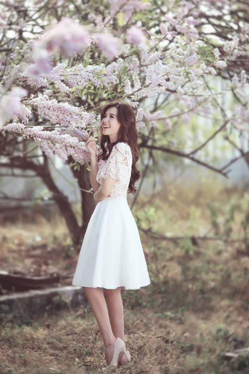 Midu đẹp rạng rỡ giữa rừng hoa anh đào - 8