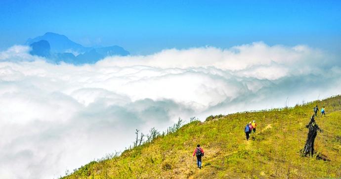 """""""Bữa tiệc với mây"""" trên đỉnh Lảo Thẩn - 1"""