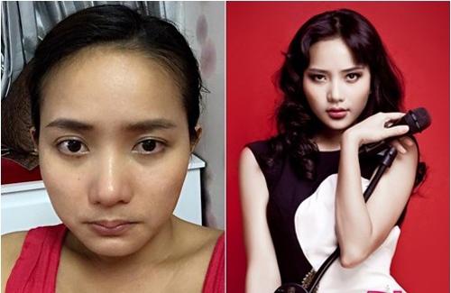 Nhan sắc của mỹ nhân Việt sau lớp trang điểm và photoshop - 10