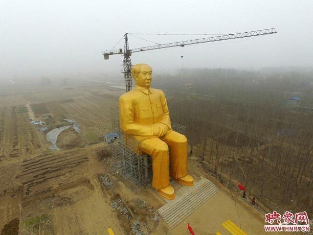 Trung Quốc xây tượng Chủ tịch Mao cao 37m - 1