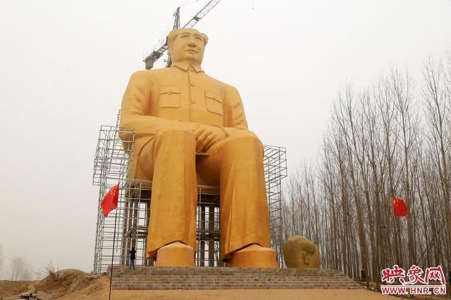 Trung Quốc xây tượng Chủ tịch Mao cao 37m - 4