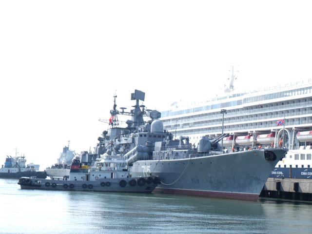 Cận cảnh tàu khu trục chống ngầm của Nga đến Đà Nẵng - 1