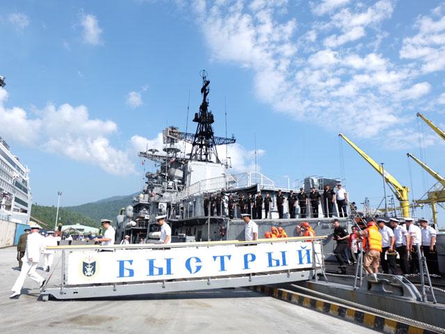 Cận cảnh tàu khu trục chống ngầm của Nga đến Đà Nẵng - 4