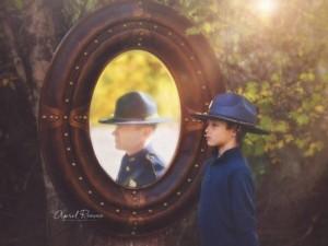 Bạn trẻ - Cuộc sống - Cảm động bộ ảnh con trai người cảnh sát quá cố
