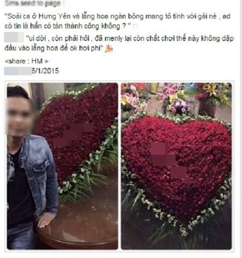 Xôn xao 'Soái ca' ở Hưng Yên tỏ tình bằng ngàn bông hồng - 1