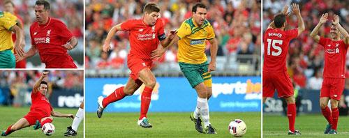 Gerrard & các huyền thoại Liverpool bùng nổ tại Úc - 1