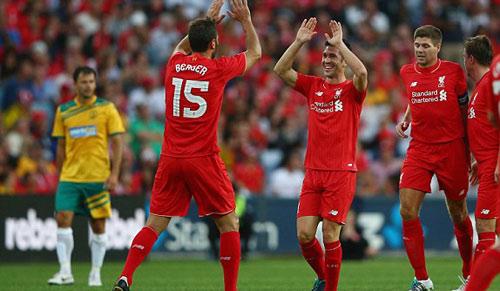 Gerrard & các huyền thoại Liverpool bùng nổ tại Úc - 5
