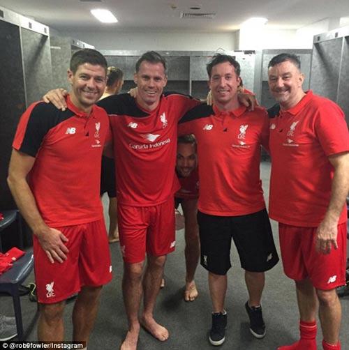 Gerrard & các huyền thoại Liverpool bùng nổ tại Úc - 13