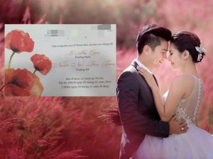 Lộ thiệp cưới giản dị của Vân Trang